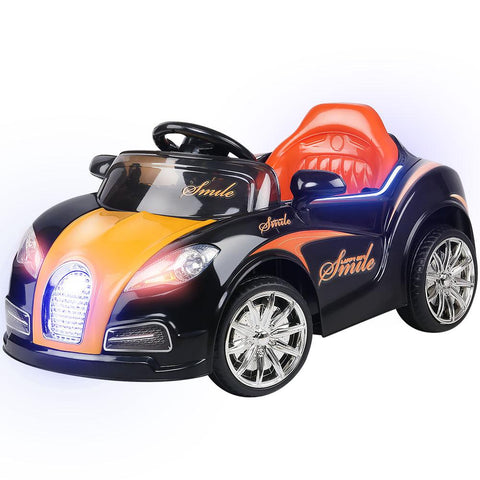 Rigo Kids Ride On Car - Black & Orange-Lilypond Kids