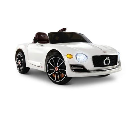 Bentley Style XP12 Electric Toy Car - White-Lilypond Kids