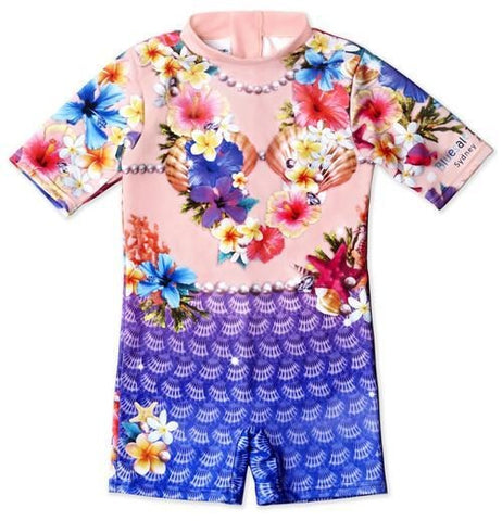 Bluesalt Mermaid Girls Rash Suit - All In One Suit - Lilypond Kids