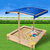 Keezi Wooden Outdoor Sand Box Set - Natural Wood-Lilypond Kids