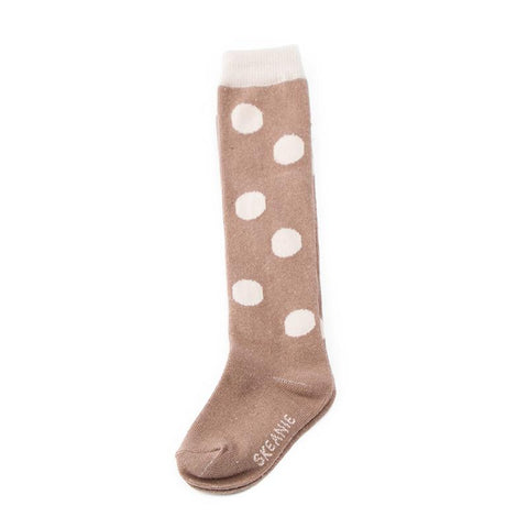 Fawn Dots Socks - 5 Pack (6-7 yrs) - Lilypond Kids