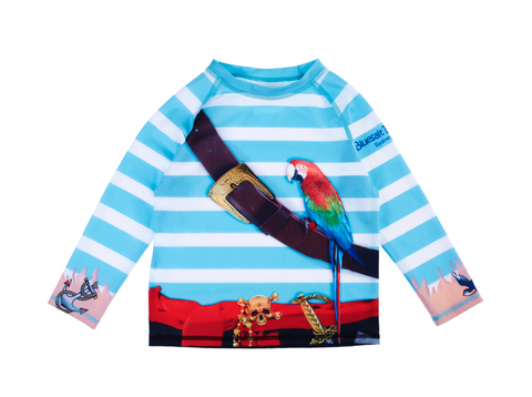 Pirate Long Sleeve Rash Top-Lilypond Kids