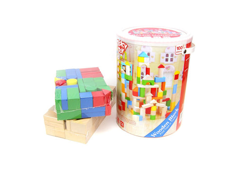 100pcs Wooden Blocks-Lilypond Kids