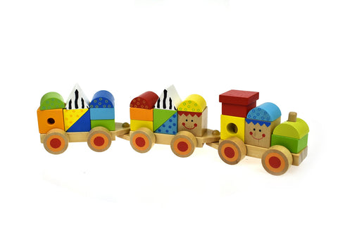 Wooden Stacking Train-Lilypond Kids