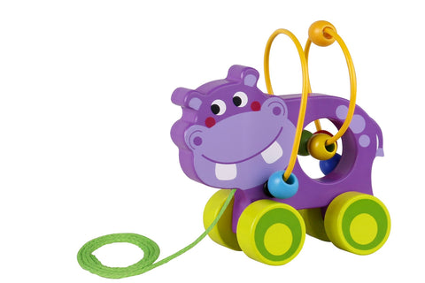 Beads Pull Along Hippo-Lilypond Kids