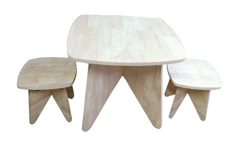 Retro Kid Table And Stool Set-Lilypond Kids