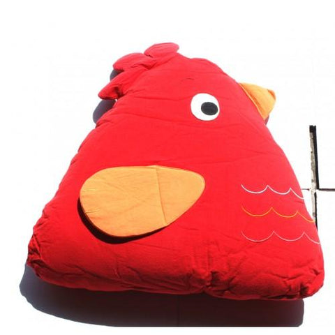 Chick Cuddling Cushion Red-Lilypond Kids
