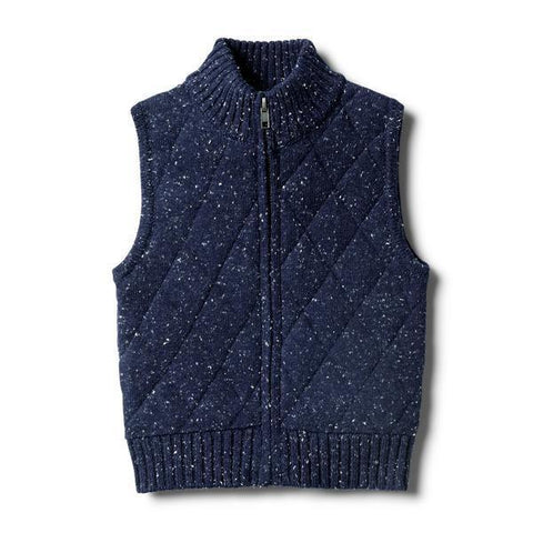 Wilson & Frenchy Twilight Blue Knitted Vest-Lilypond Kids