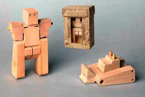 Small Wooden Transformer - Compactor-Lilypond Kids