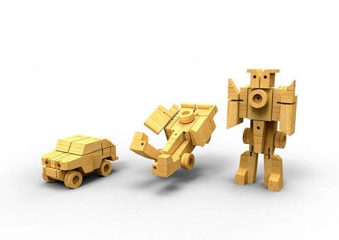 Wooden Transformer - Army Truck-Lilypond Kids
