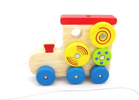 Pull Along Spin Pattern Train-Lilypond Kids