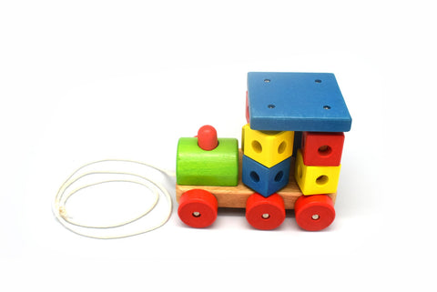 Pull Along Block Engine-Lilypond Kids