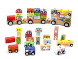 City Block Train With Cars-Lilypond Kids