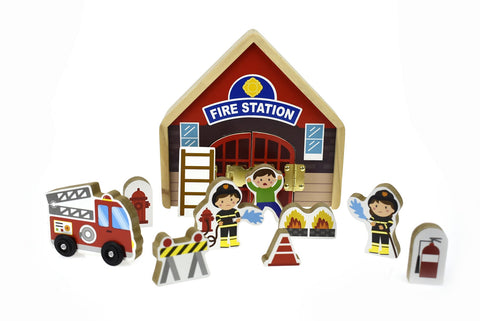 Metallatch Playset - Fire Station-Lilypond Kids