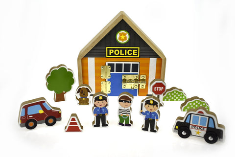 Metal Latch Playset - Police Station-Lilypond Kids