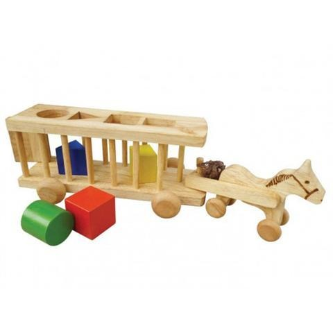 Wooden Sorting Horse Cart-Lilypond Kids
