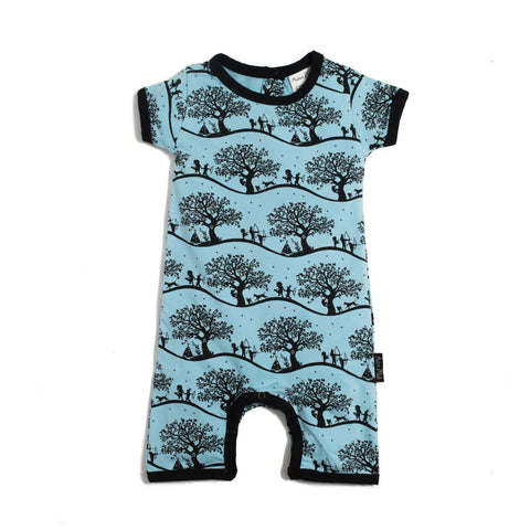 Enchanted Fields Short Romper - Lilypond Kids