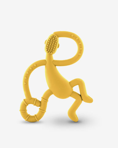 Matchstick Monkey Dancing Monkey Teether - Yellow-Lilypond Kids