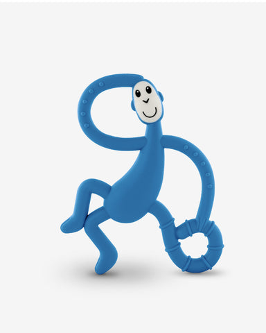 Matchstick Monkey Dancing Monkey Teether - Blue-Lilypond Kids