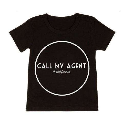 MLW by Design - Call My Agent Tee - White or Black-Lilypond Kids