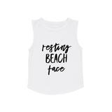 MLW By Design Tank Top - Resting Beach Face - White-Lilypond Kids