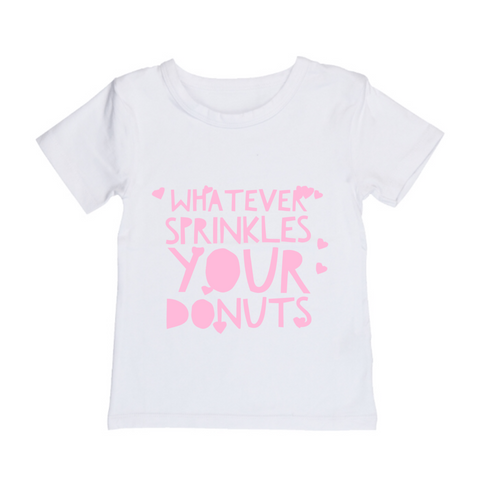 MLW By Design Tee Shirt - Whatever Print - Black or White-Lilypond Kids