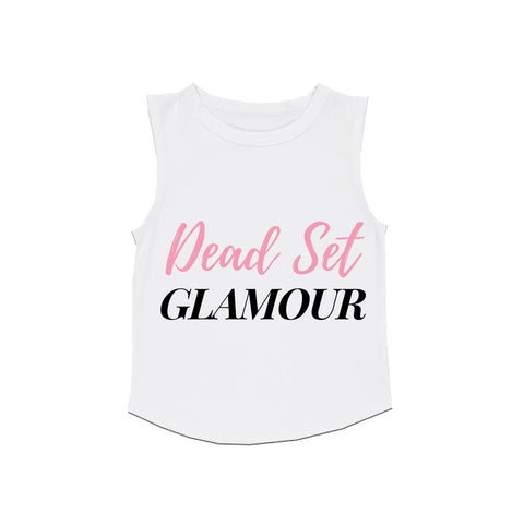 MLW By Design Tank Top - Dead Set Glamour Print - White or Black-Lilypond Kids