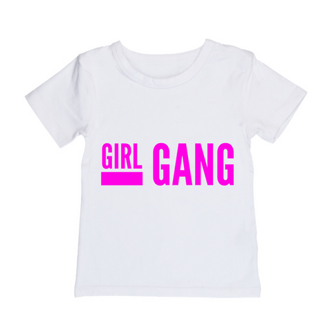 MLW By Design Tee Shirt - Girl Gang Print - Black or White-Lilypond Kids