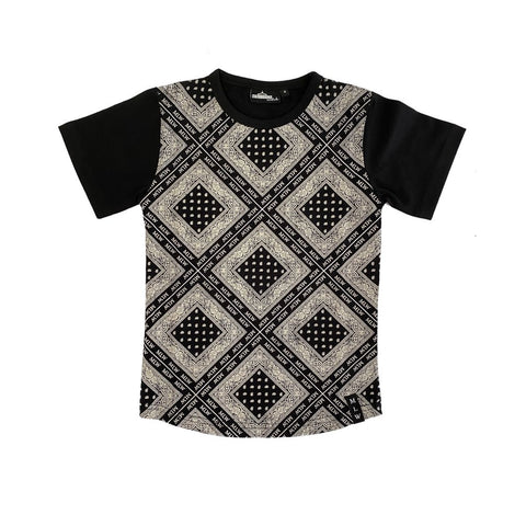 MLW By Design - Branded Bandana Tee Shirt-Lilypond Kids