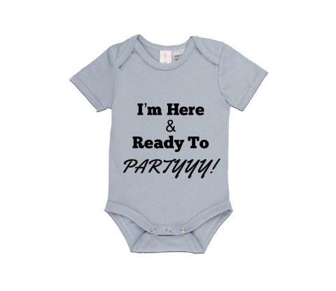 MLW By Design Short Sleeve Baby Romper - Ready To Party Print-Lilypond Kids