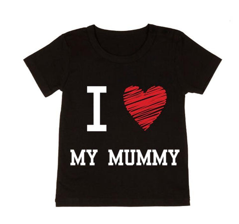 MLW By Design Tee Shirt - Love Mummy - Black or White-Lilypond Kids