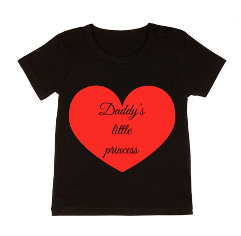MLW By Design - Daddy's Princess Tee - Black or White-Lilypond Kids