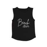 MLW By Design Tank Top - Beach Bum Print - White or Black-Lilypond Kids
