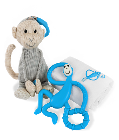 Matchstick Monkey Gift Set - Blue-Lilypond Kids