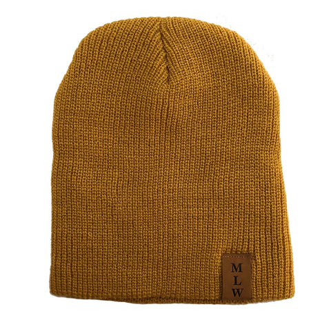 MLW By Design - Knit Beanie - Mustard-Lilypond Kids