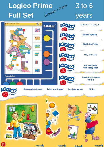 Logico Primo Full Set With A Free Board (8 Books + 1 Board)-Lilypond Kids