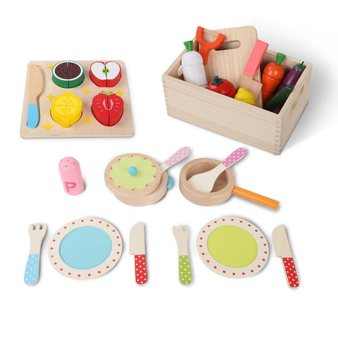 Keezi 29 Piece Kids Food Play Set-Lilypond Kids