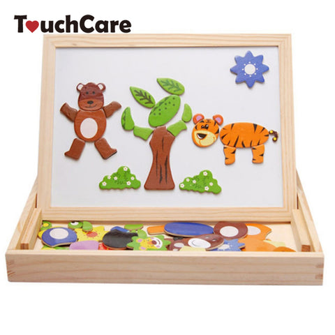 Multi-function Animal Puzzle Magnetic Drawing Board-Lilypond Kids