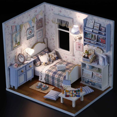 DIY Miniature Wooden Doll House - Cottage Style Bedroom-Lilypond Kids