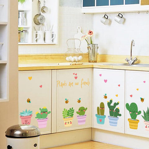 Cute Cacti Wall Stickers-Lilypond Kids