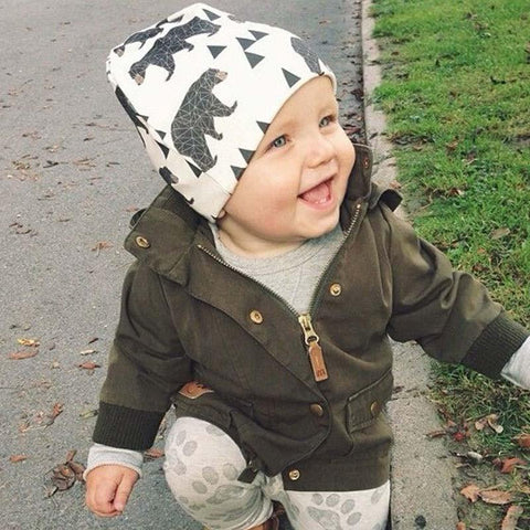 Kids Cotton Beanie - Animal Prints-Lilypond Kids