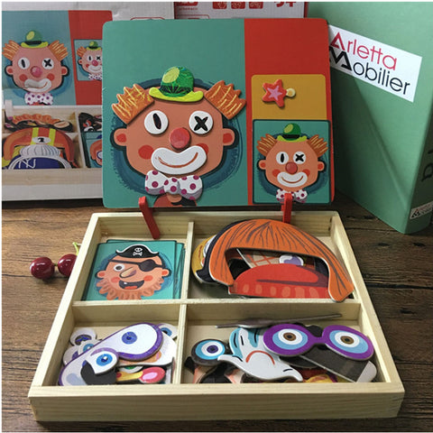 Magnetic Wooden Puzzle-Lilypond Kids