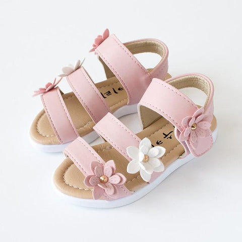 Summer Flower Style Girls Sandals-Lilypond Kids