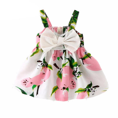 Summer Baby Dress Lemon Print-Lilypond Kids