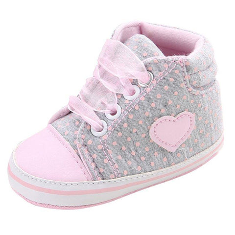 Girls Baby Pre-Walker Casual Polka Dots Shoes-Lilypond Kids