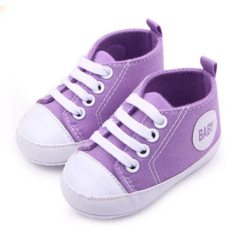 Baby Pre-Walker Canvas Sneakers - 12 Colours - Lilypond Kids
