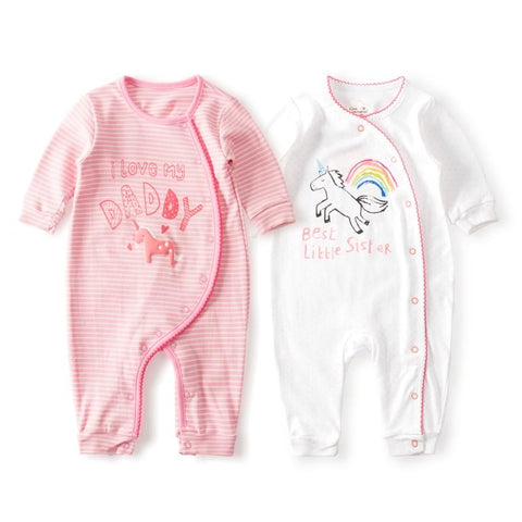 Cotton Romper - Unicorn Design-Lilypond Kids