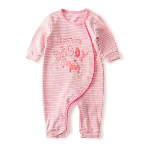 Cotton Baby Girl Romper - Unicorn Design - Lilypond Kids