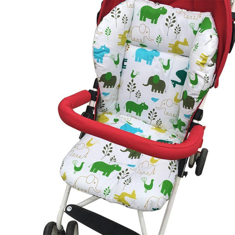 Comfortable Baby Stroller Seat Cushion With Animal Patterns-Lilypond Kids