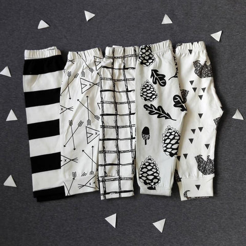 Unisex Patterned Print Cotton Leggings-Lilypond Kids